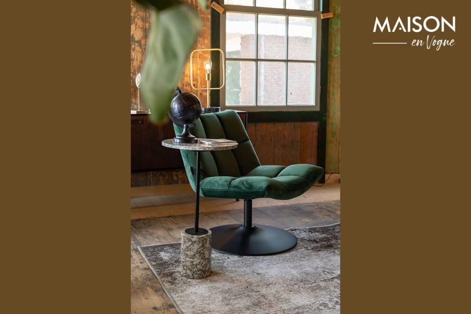 Une chaise lounge élégante et confortable