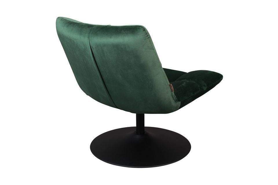 Chaise lounge Bar en velours vert - 6