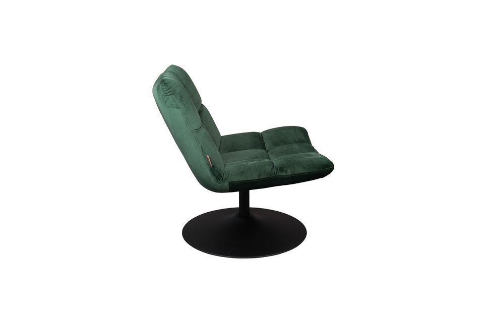 Chaise lounge Bar en velours vert - 7