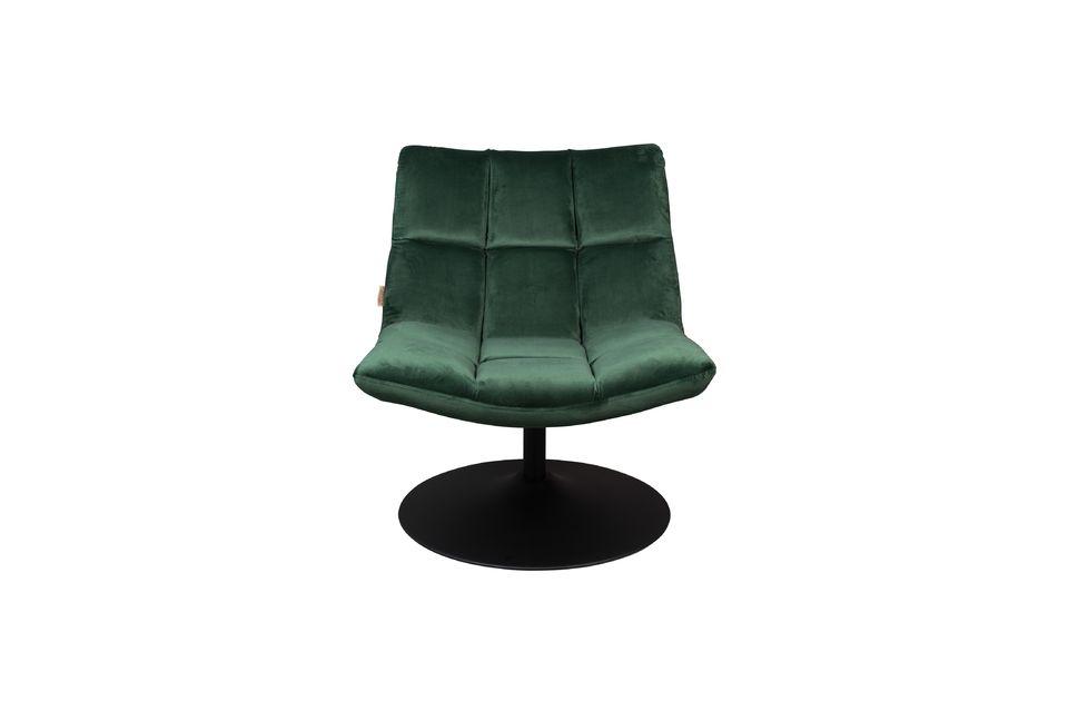 Chaise lounge Bar en velours vert - 8