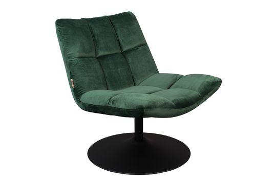 Chaise lounge Bar en velours vert Détouré