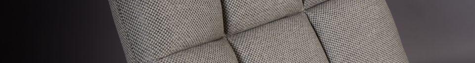 Mise en avant matière Chaise lounge Bar grise claire
