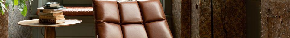 Mise en avant matière Chaise lounge Bar vintage marron