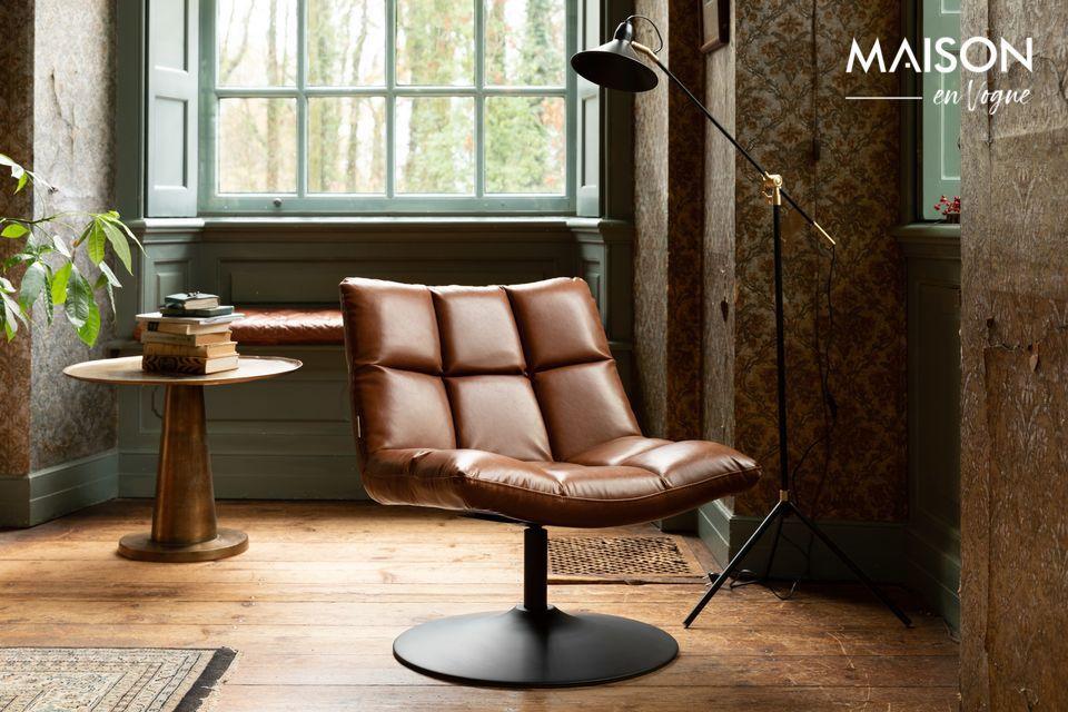 Chaise lounge Bar vintage marron Dutch Bone