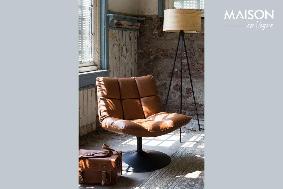 Chaise lounge Bar vintage marron - 6