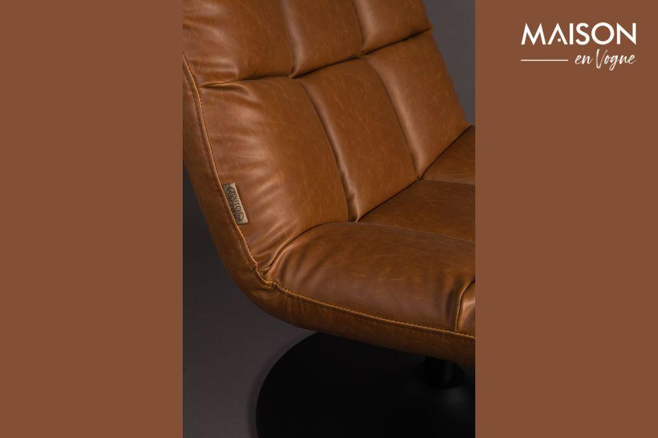 Chaise lounge Bar vintage marron - 8