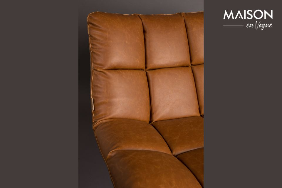Chaise lounge Bar vintage marron - 9