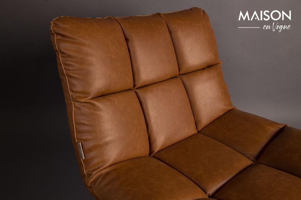Chaise lounge Bar vintage marron - 10