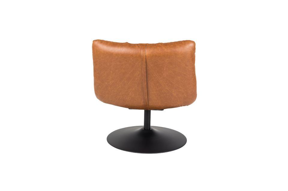 Chaise lounge Bar vintage marron - 12