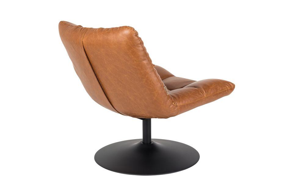 Chaise lounge Bar vintage marron - 13