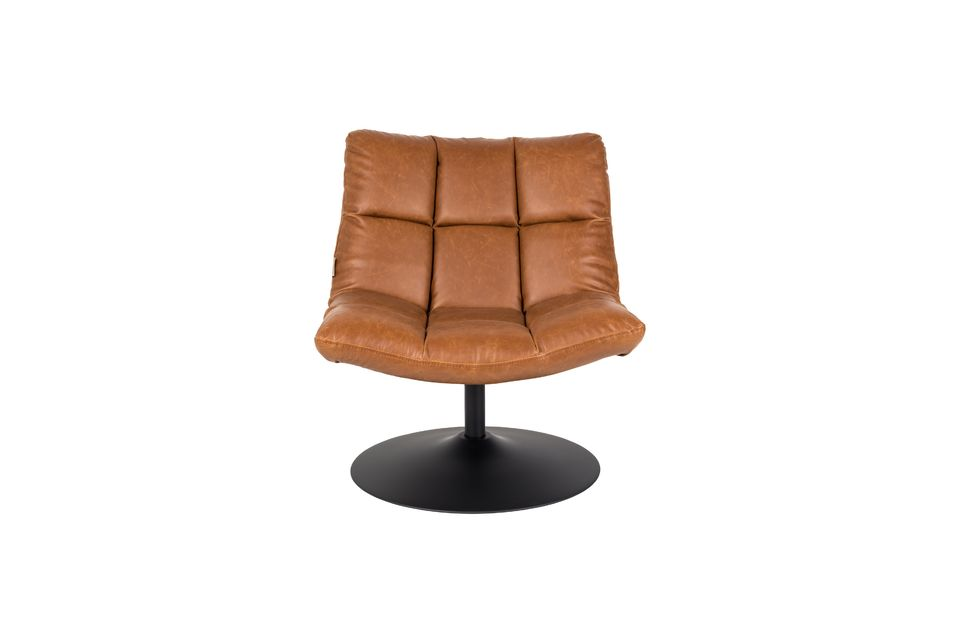 Chaise lounge Bar vintage marron - 14