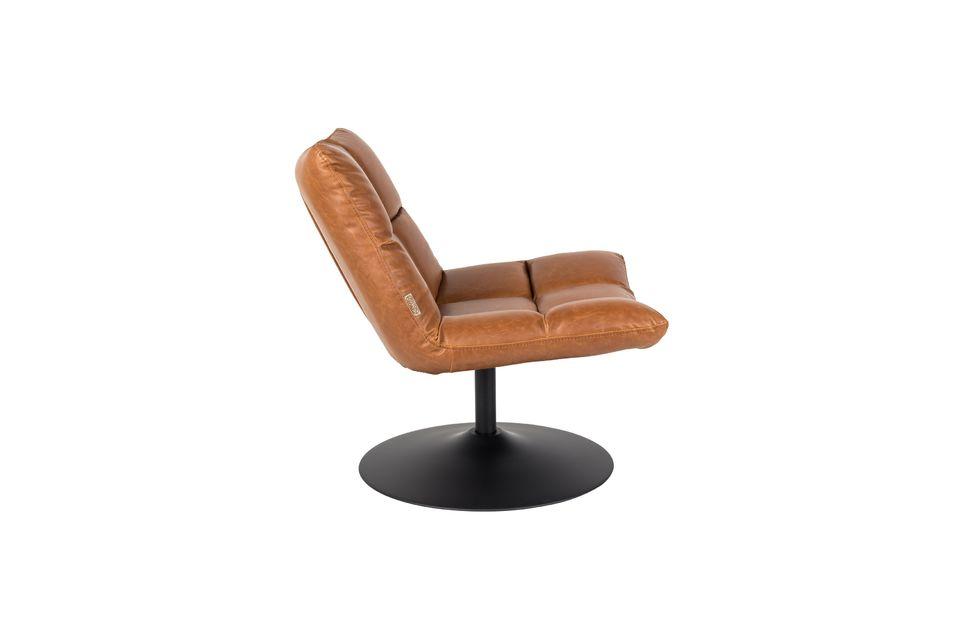 Chaise lounge Bar vintage marron - 15