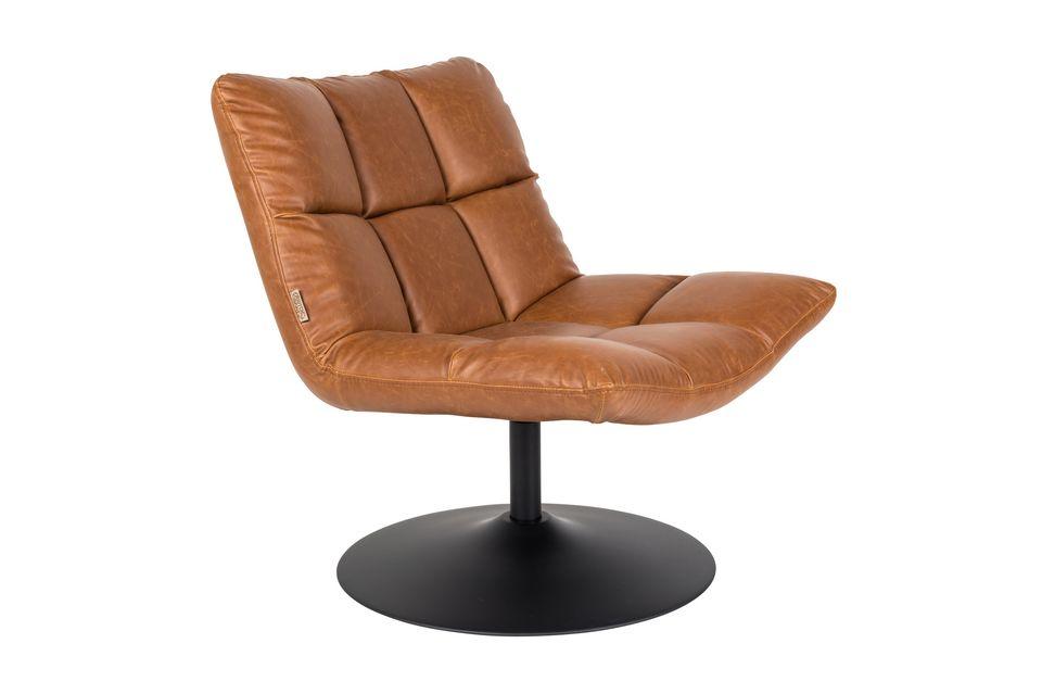 Chaise lounge Bar vintage marron - 11
