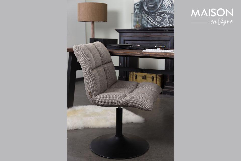 Chaise lounge Brandivy Bar grise claire Dutch Bone