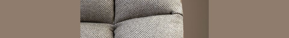 Mise en avant matière Chaise lounge Brandivy Bar grise claire