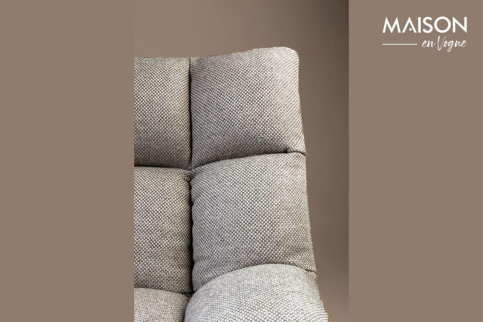 Cette chaise de mini-bar gris clair Brandivy s\'intègre naturellement dans un loft