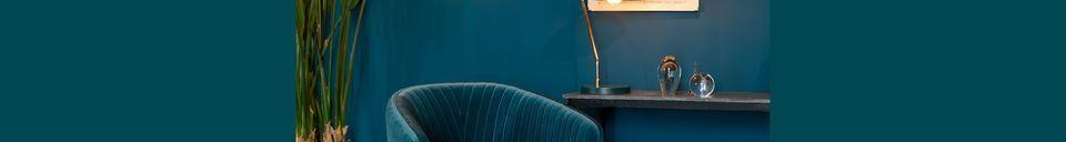 Mise en avant matière Chaise lounge Dolly Bleue