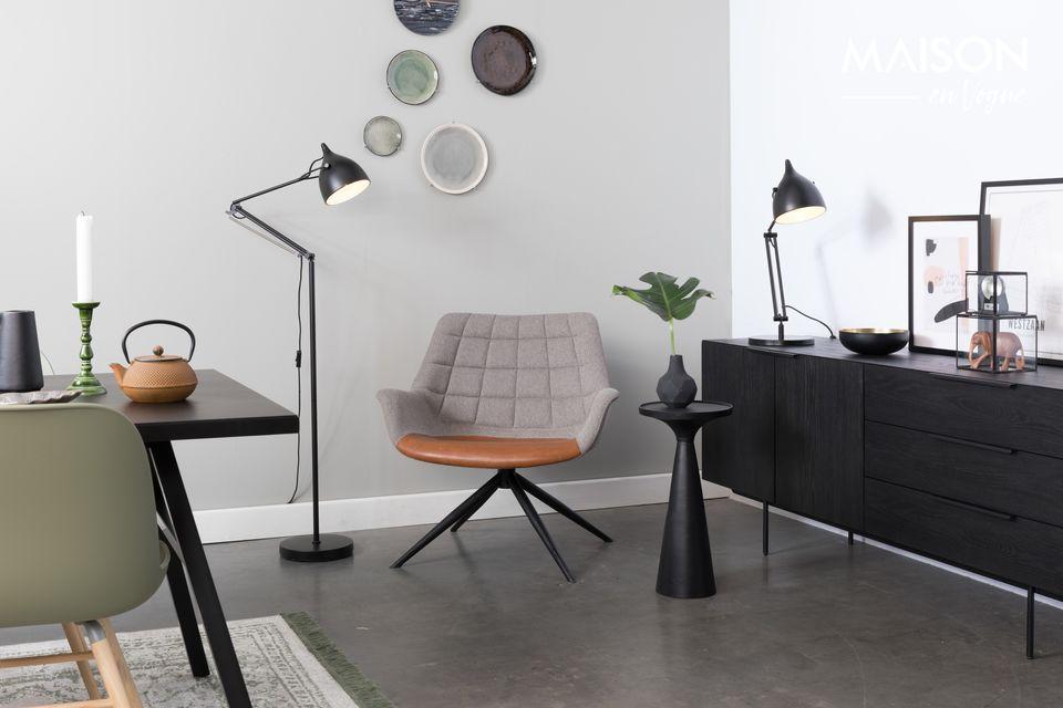 Classe, allure et distinction définissent parfaitement la chaise lounge Doulton vintage Marron