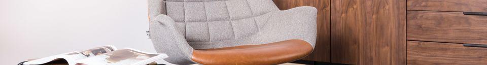 Mise en avant matière Chaise lounge Doulton Vintage Marron