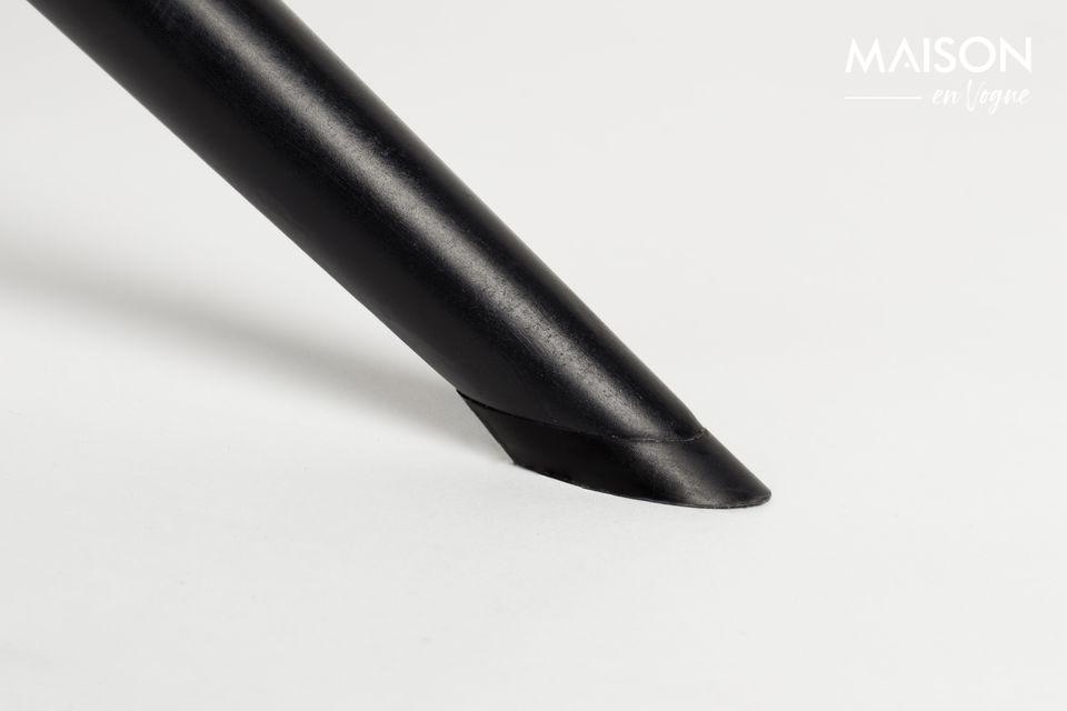 Son look rétro est porté par une base pivotante en acier noir