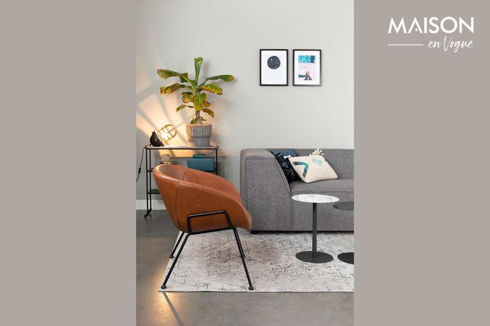 Une chaise lounge où élégance et confort priment