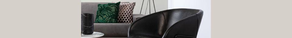 Mise en avant matière Chaise lounge Feston Noire