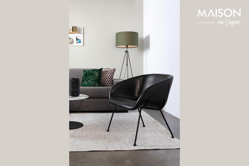 Chaise lounge Feston Noire Zuiver