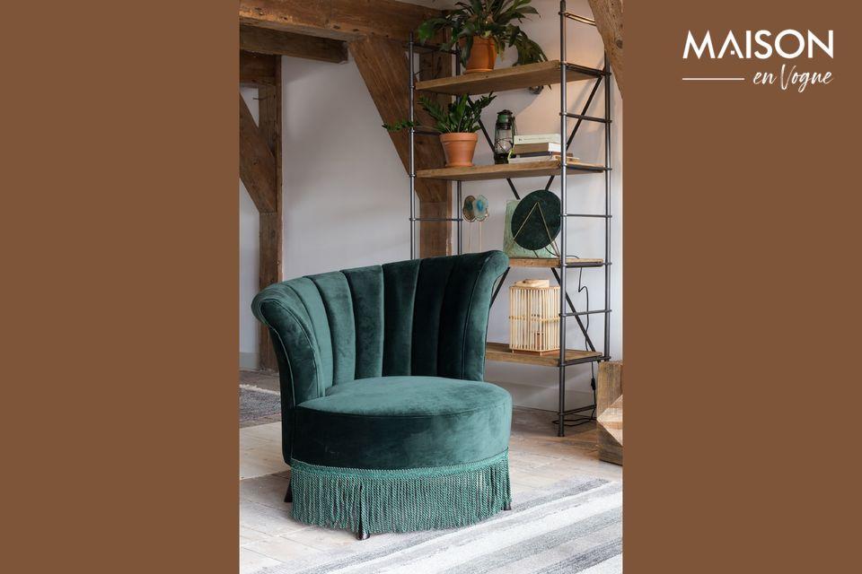 Chaise lounge Flair verte foncée