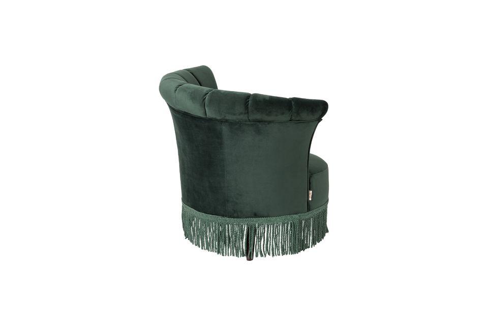 Chaise lounge Flair verte foncée - 7