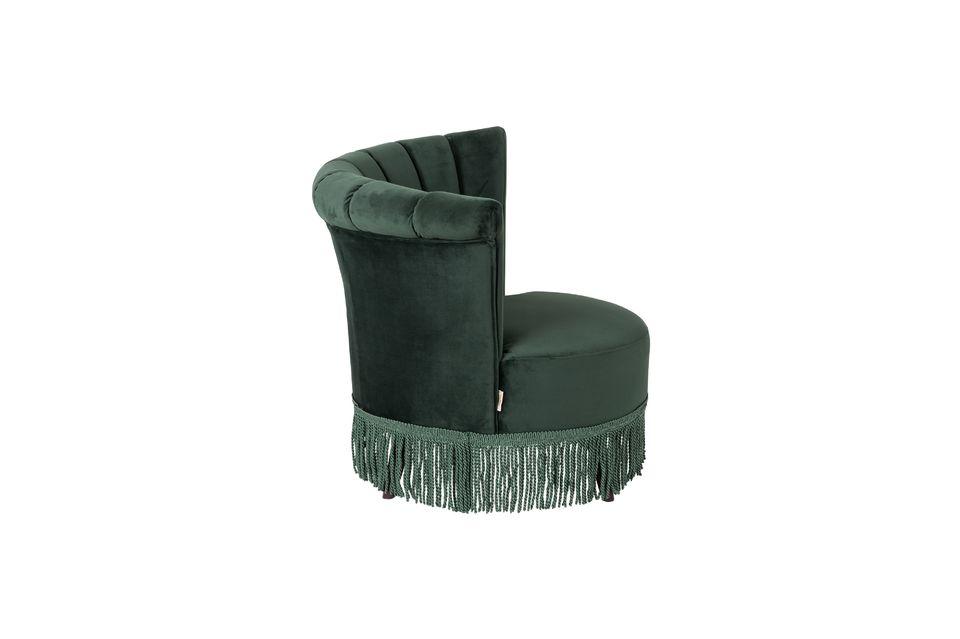 Chaise lounge Flair verte foncée - 8