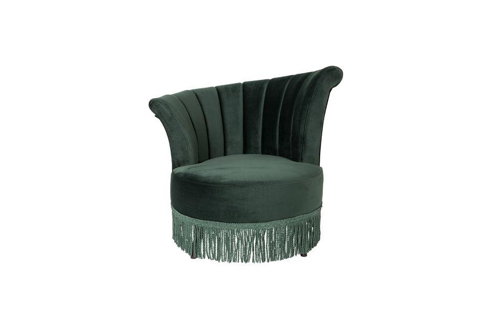 Chaise lounge Flair verte foncée - 9