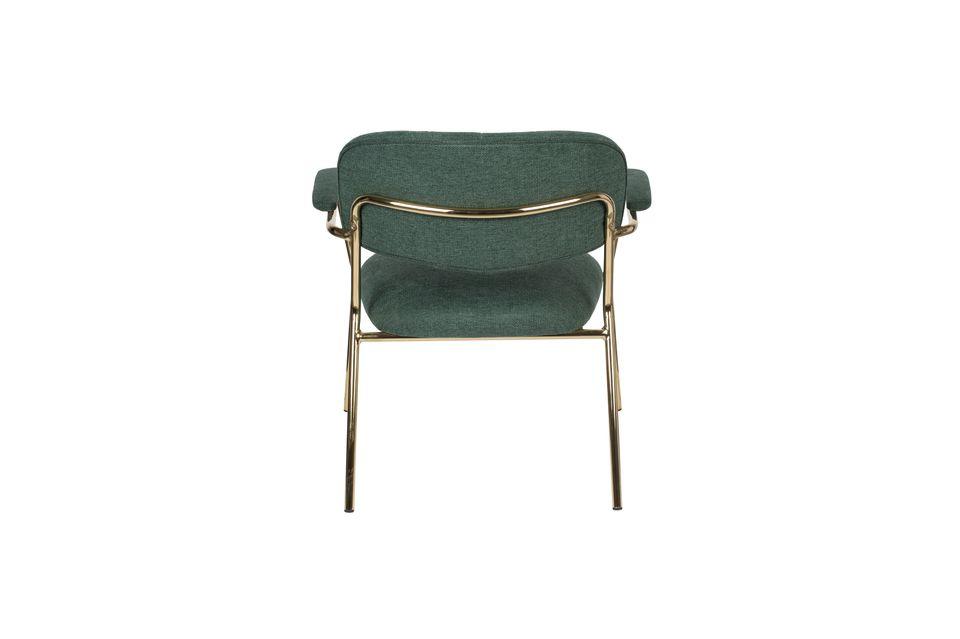 Chaise lounge Jolien à accoudoirs or et vert Foncé - 8