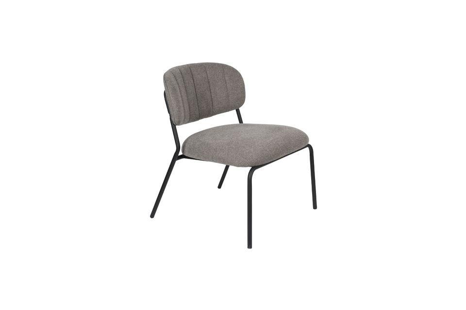 Chaise lounge Jolien noire et grise - 5