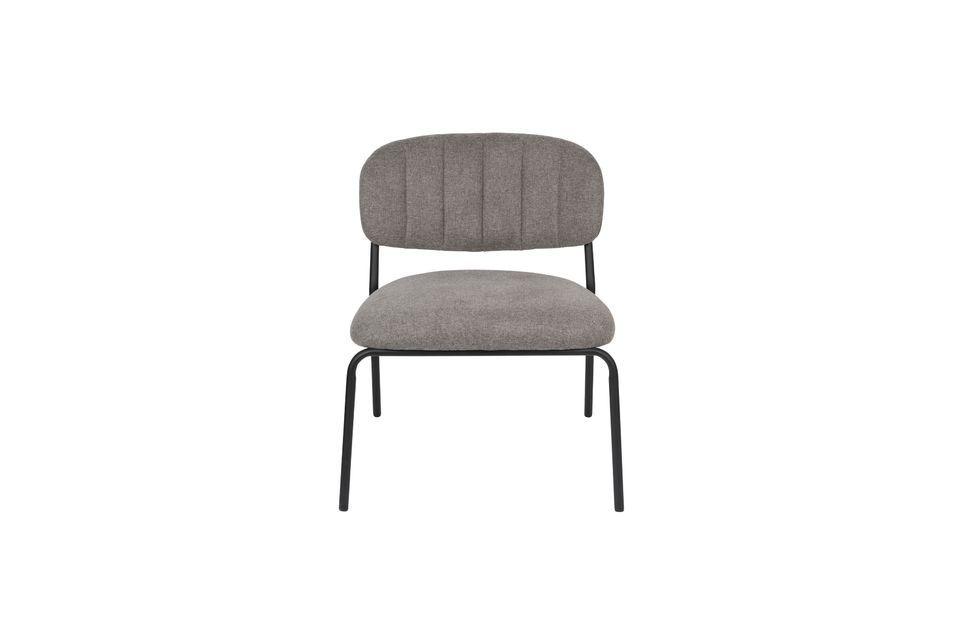 Chaise lounge Jolien noire et grise - 6