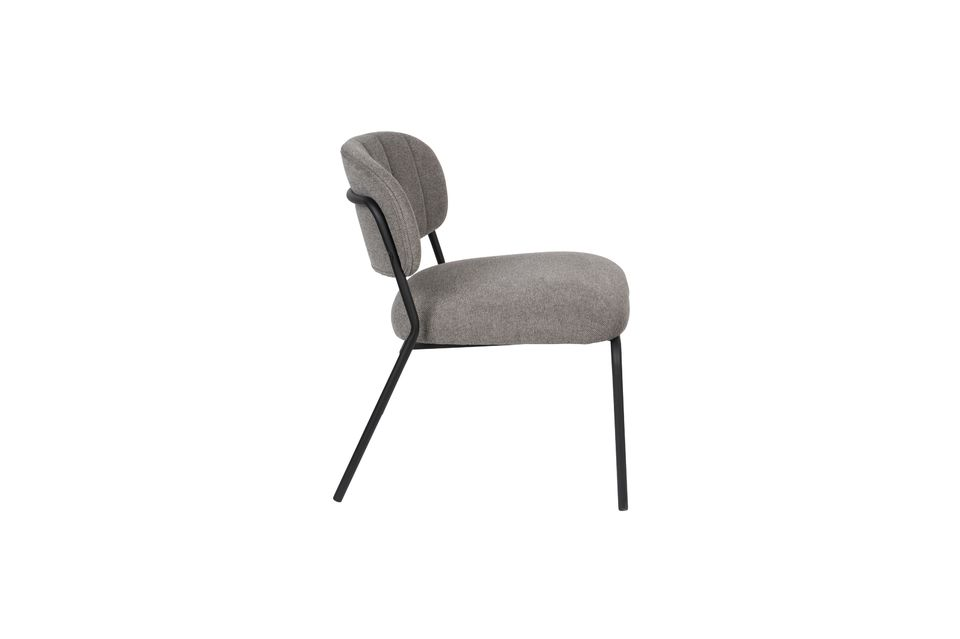 Chaise lounge Jolien noire et grise - 7