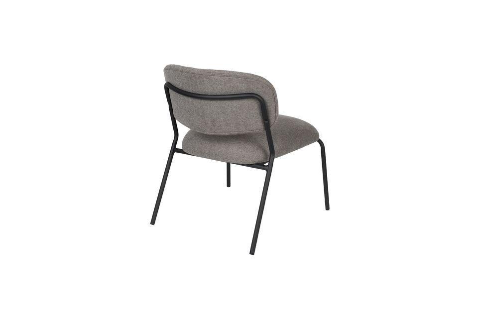 Chaise lounge Jolien noire et grise - 8