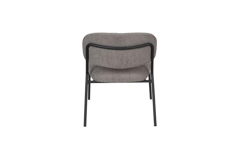 Chaise lounge Jolien noire et grise - 9
