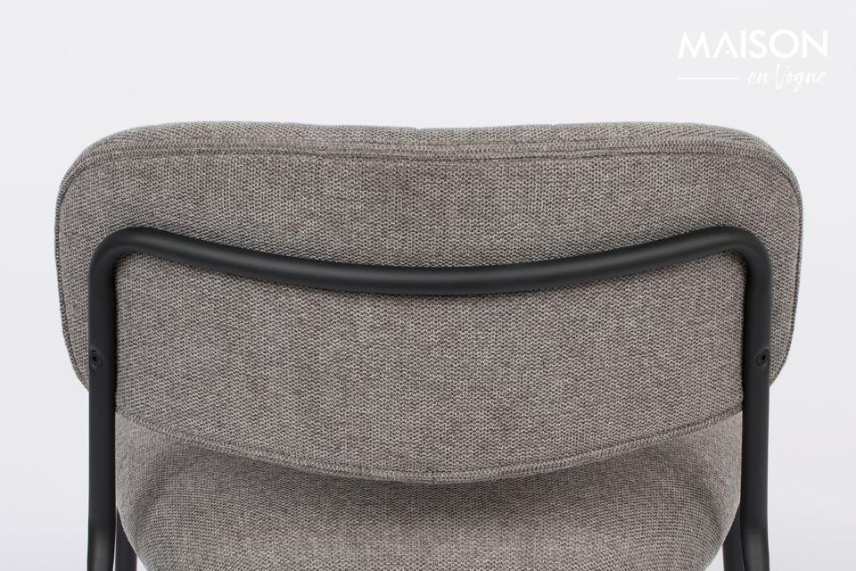 Le dossier et l\'assise sont en contreplaqué recouvert de mousse polyuréthane grise