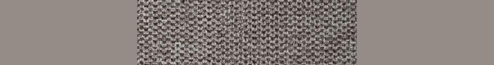 Mise en avant matière Chaise lounge Jolien noire et grise