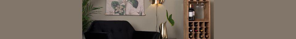 Mise en avant matière Chaise lounge Kate noire