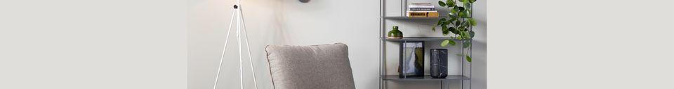 Mise en avant matière Chaise lounge Lazy Sack grise claire