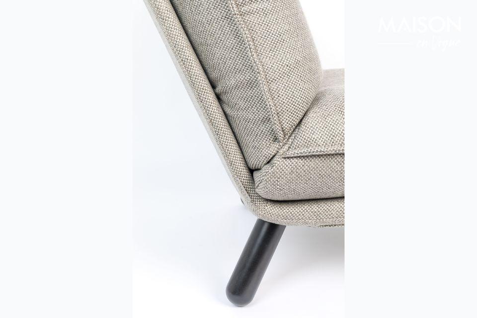 En tissu gris