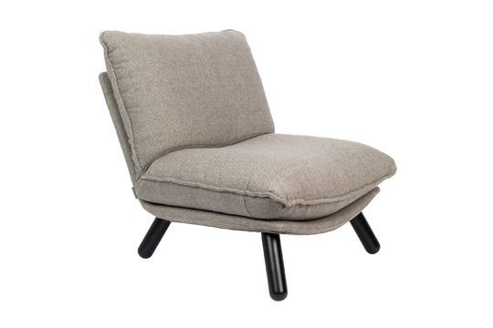 Chaise lounge Lazy Sack grise claire