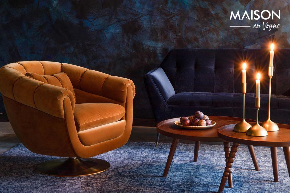 La Chaise lounge Member Whisky est parfaite pour créer une ambiance cosy et chaleureuse dans votre