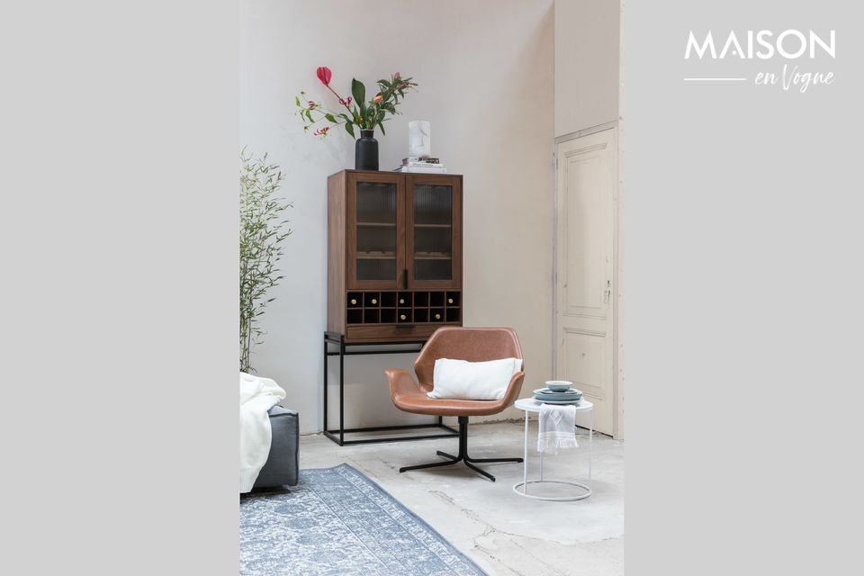 Élégante chaise lounge en cuir PU