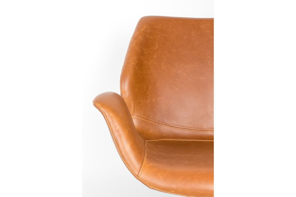 Chaise lounge nikki marron - 5
