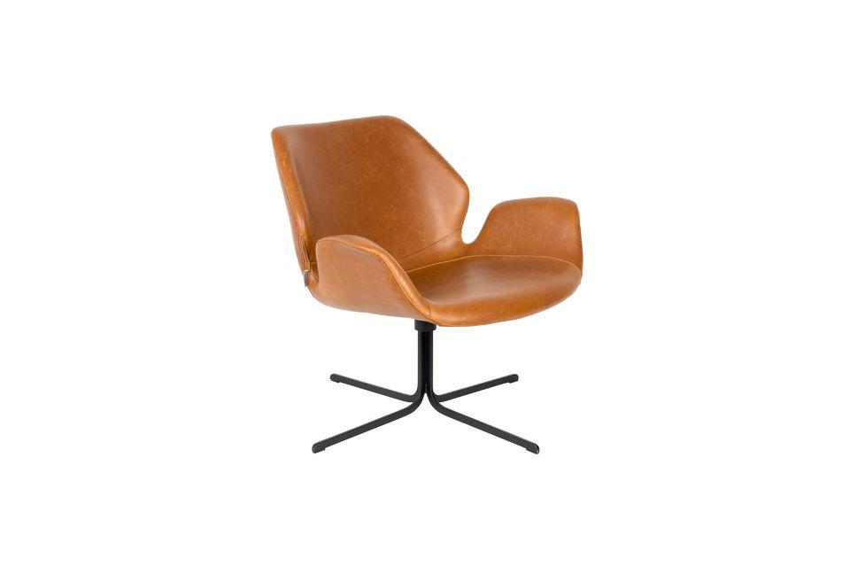 Chaise lounge nikki marron - 6