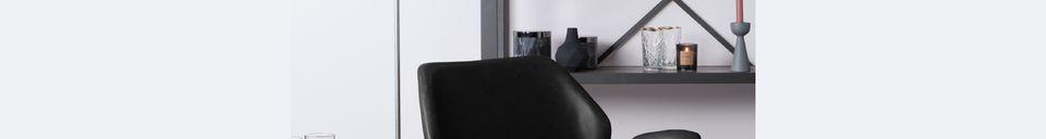 Mise en avant matière Chaise lounge Nikki noire
