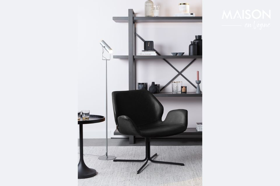 Chaise lounge Nikki noire Zuiver