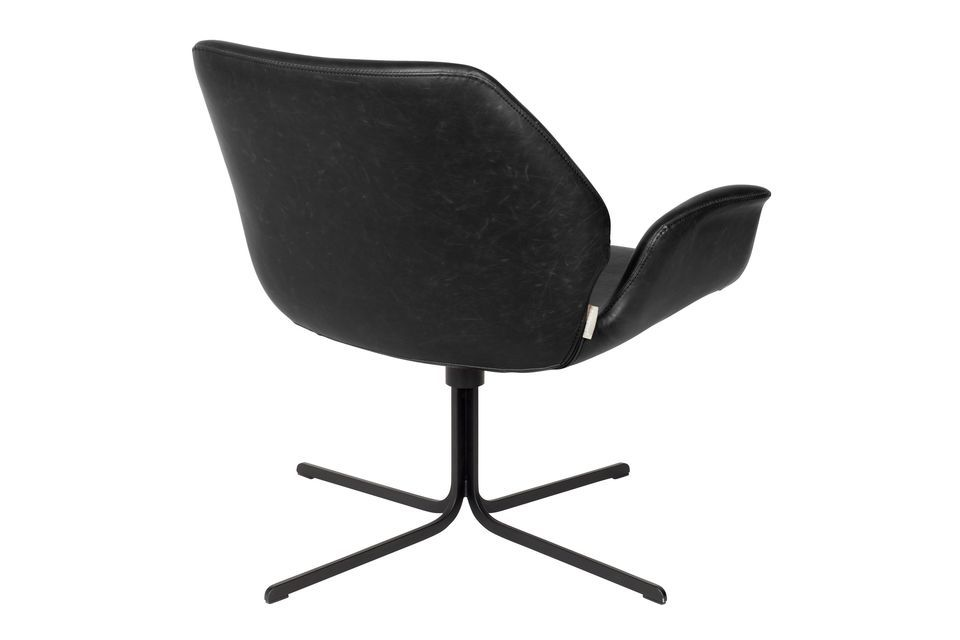 Chaise lounge Nikki noire - 6
